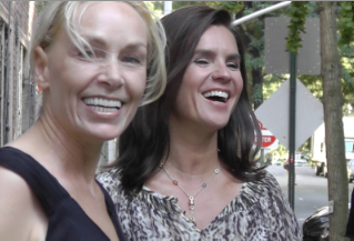 Marianne Hettinger and Katarina Witt